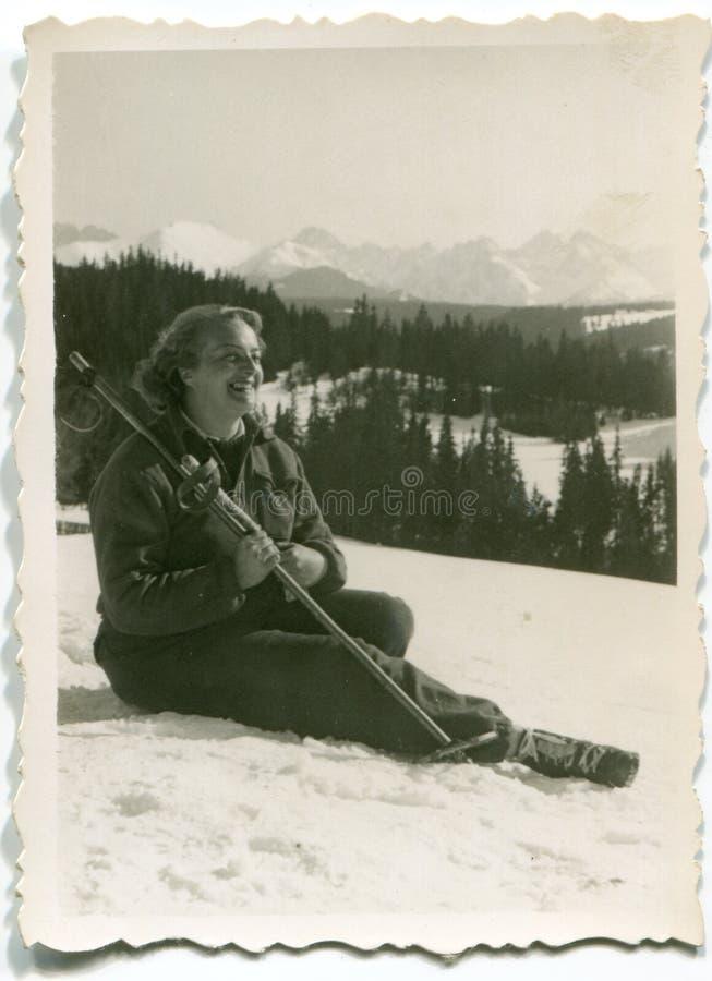 Tappningfoto av kvinnan royaltyfri bild