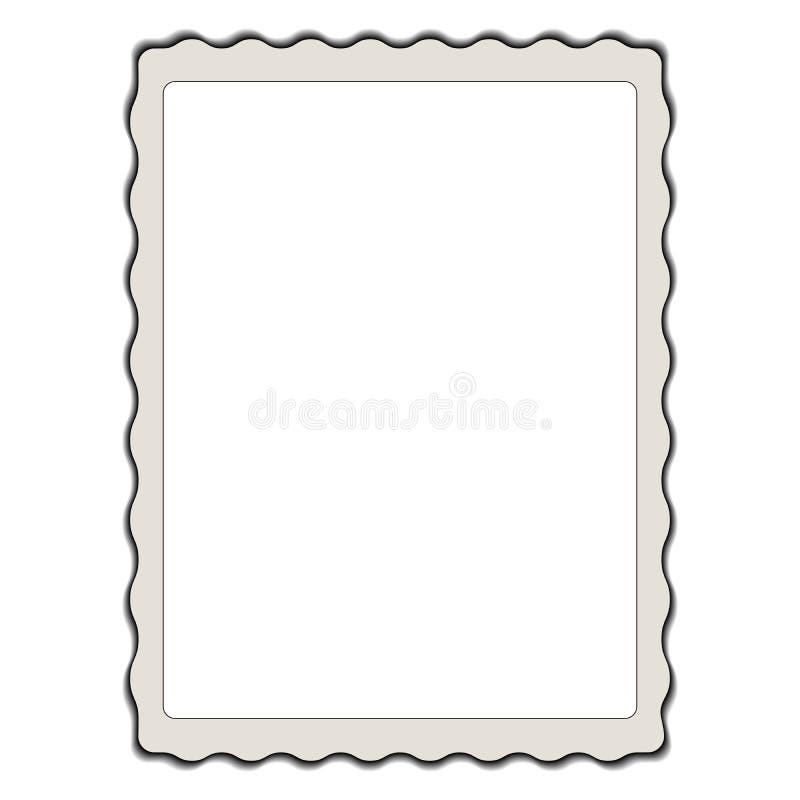 Tappningfoto, modell kantjusterad mall för ram för foto för vågvektor retro stock illustrationer