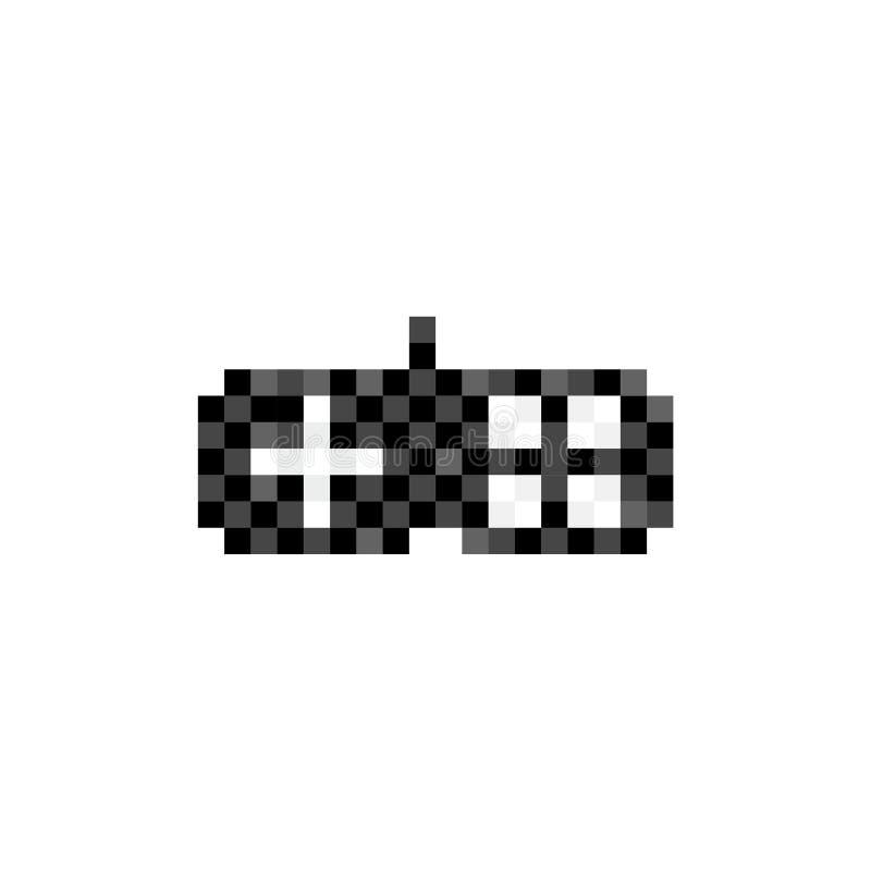 Tappninggamepadlogo Illustration för styrspak för PIXELkonststil royaltyfri illustrationer
