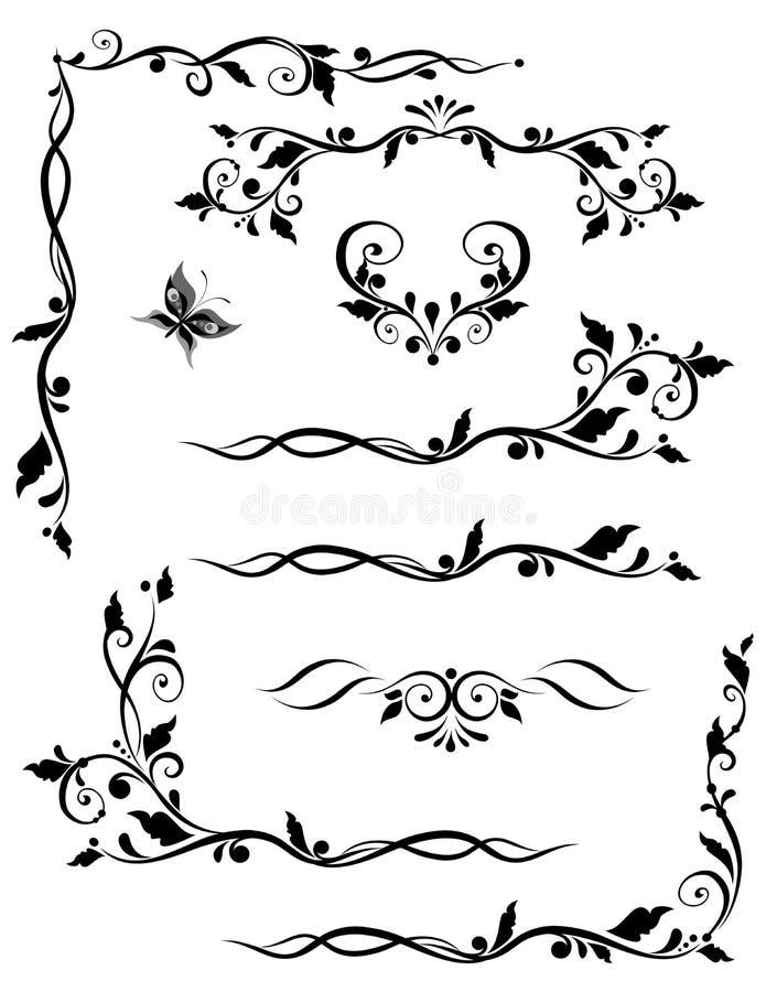 Tappninggränser royaltyfri illustrationer