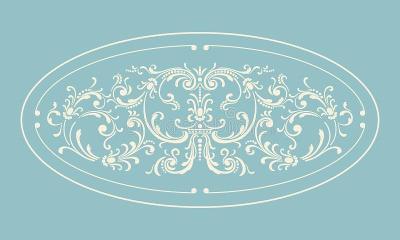 Tappninggränsram med den retro prydnaden royaltyfri illustrationer