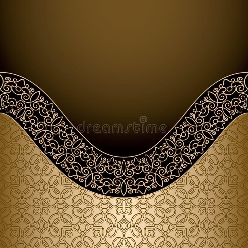 Tappningguldbakgrund royaltyfri illustrationer