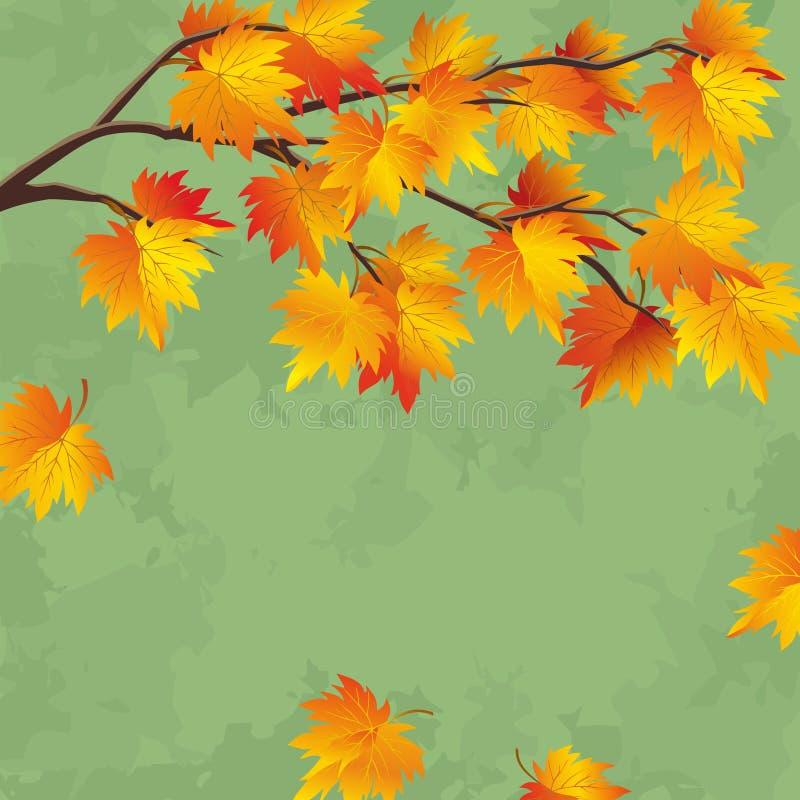 Tappninghösttapet, bladnedgångbakgrund stock illustrationer