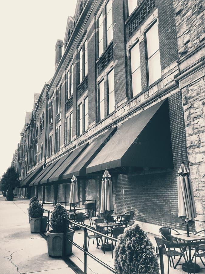 Tappninghotell och kafé royaltyfri bild