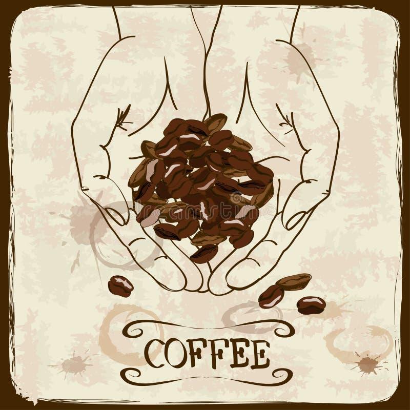 Download Tappningillustration Med Kaffebönor Vektor Illustrationer - Illustration av espresso, meny: 37347103