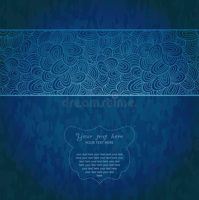 Tappninginbjudankortet på grungebakgrund med snör åt prydnaden mall för ram för kortdesign Tappning snör åt Doily Vara kan använd stock illustrationer