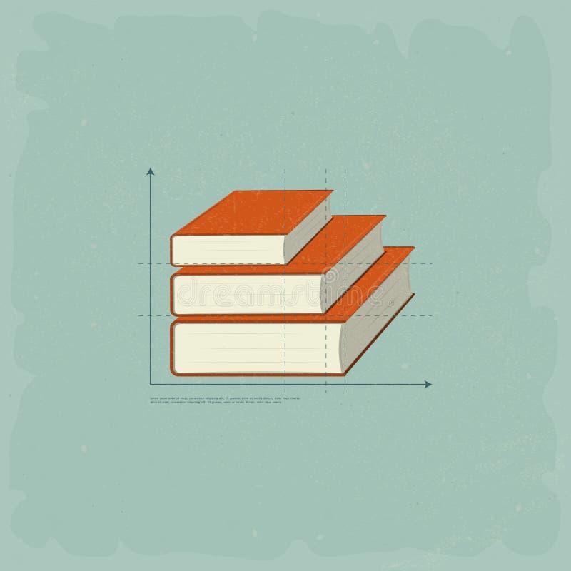 Tappninginfographicsböcker vektor illustrationer