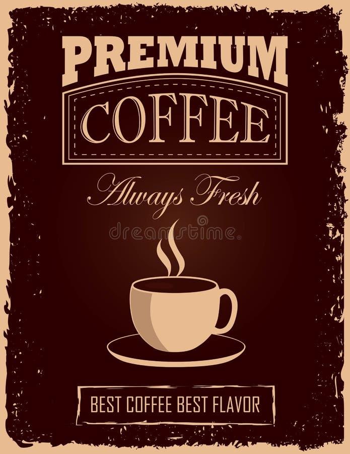 Tappningkaffeaffisch royaltyfri illustrationer
