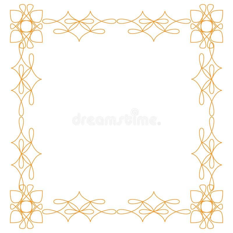 Tappningkrusidullar smyckar illustrationen f?r rammallvektorn Viktorianska gr?nser f?r h?lsningkort, br?llopinbjudningar, stock illustrationer