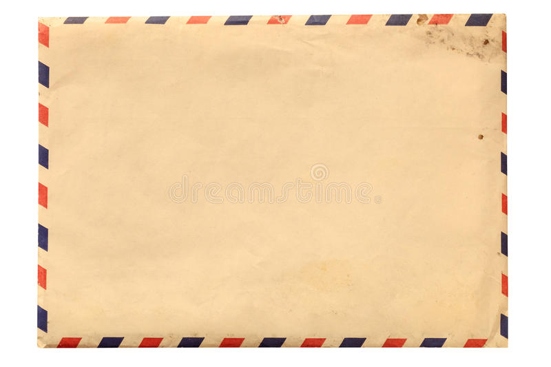 Tappningkuvert som isoleras på vit royaltyfri foto