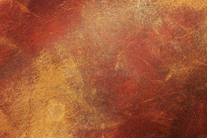 Tappninglädertextur arkivbild
