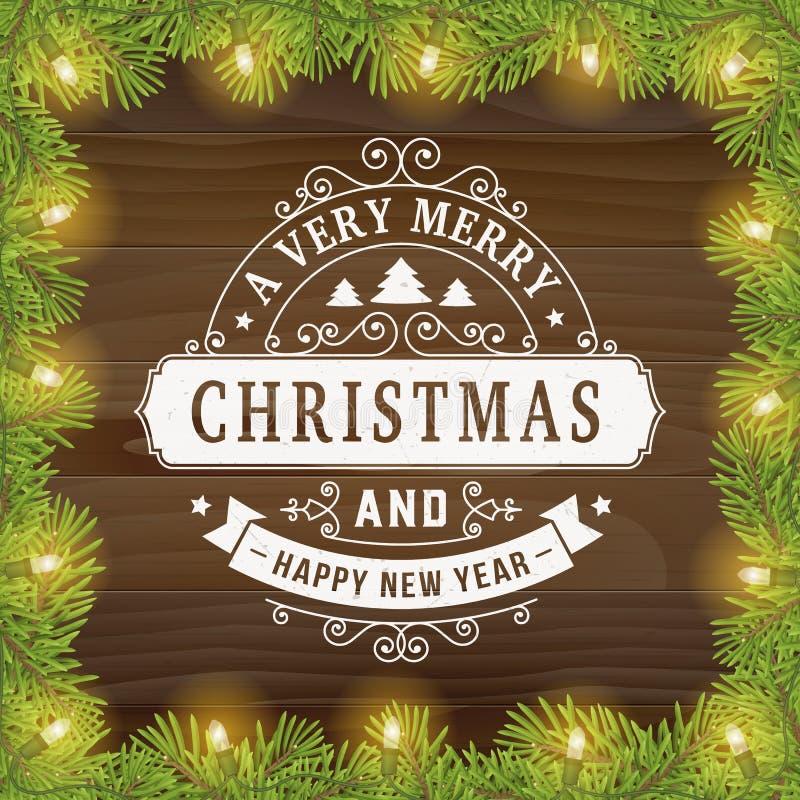 Tappninglinje bakgrund för glad jul för konsthälsningkort arkivbild