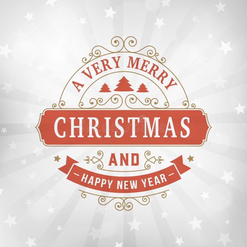 Tappninglinje bakgrund för glad jul för konsthälsningkort arkivfoton