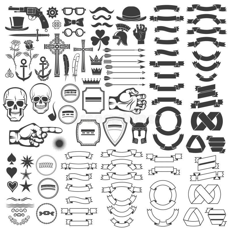 Tappninglogobeståndsdelar stock illustrationer