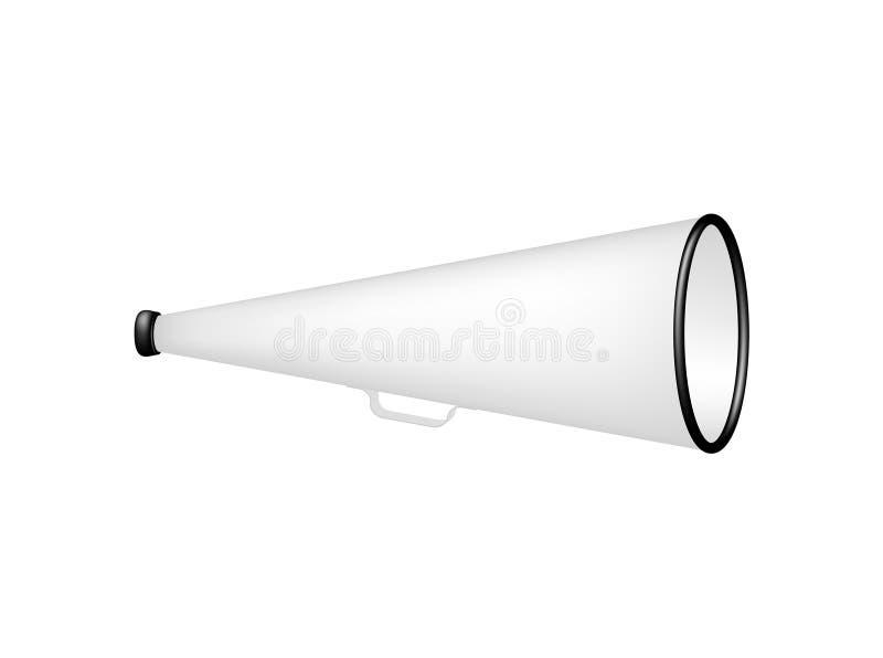 Tappningmegafon i svartvit design vektor illustrationer