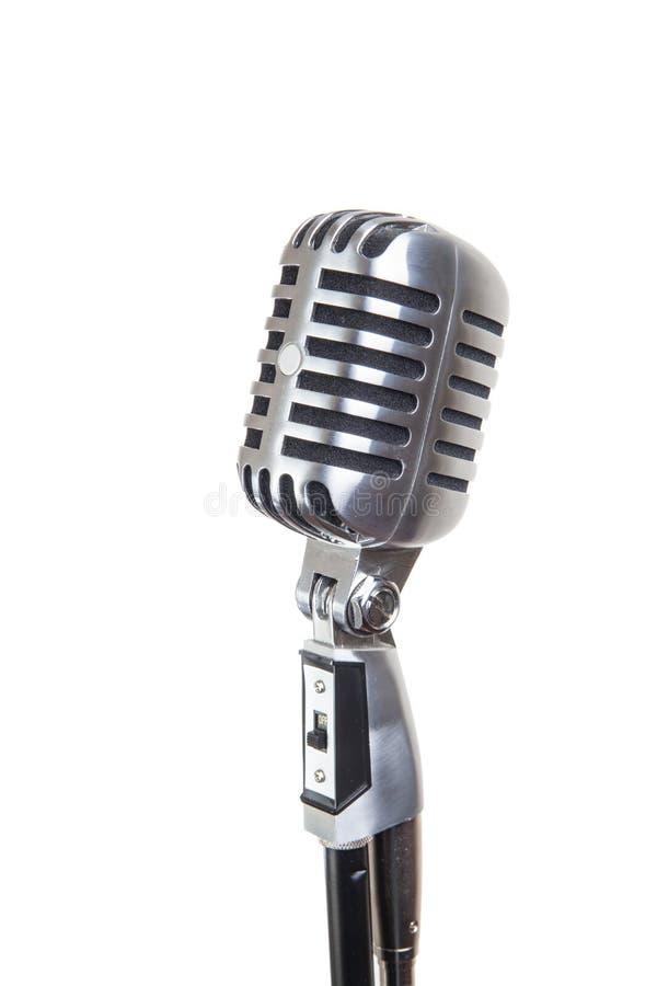 Tappningmikrofon som isoleras arkivfoto