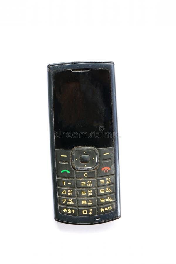 Tappningmobiltelefon royaltyfria bilder