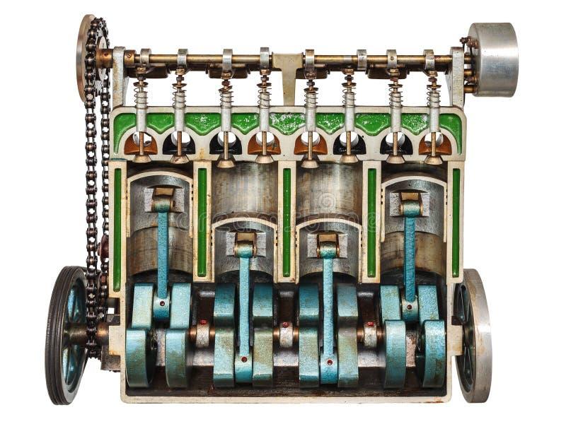 Tappningmodell av en klassisk bilmotor royaltyfri bild