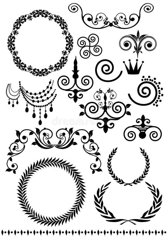 Tappningmodelluppsättning royaltyfri illustrationer