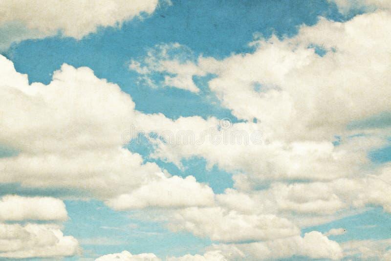 Tappningmoln och himmelbakgrund. vektor illustrationer