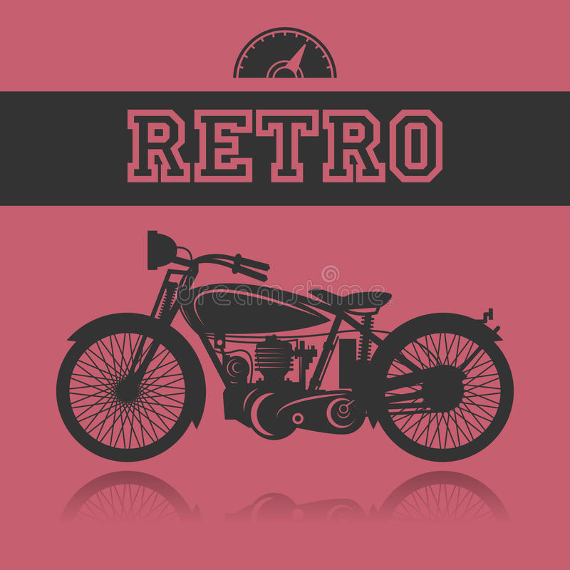 Tappningmotorcykeletikett royaltyfri illustrationer
