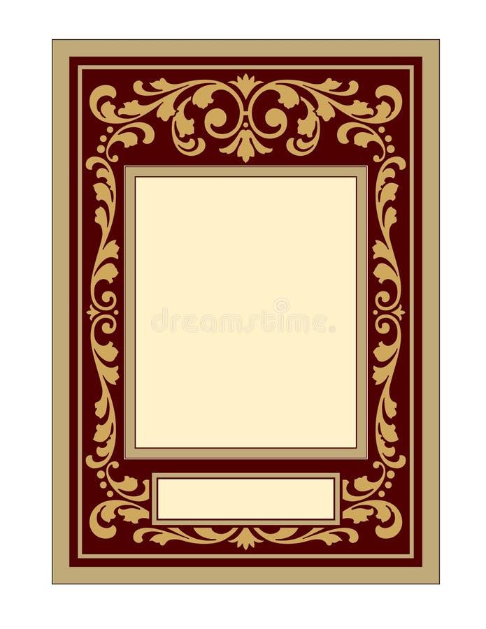 Tappningpanel-ram med snirklar royaltyfri illustrationer