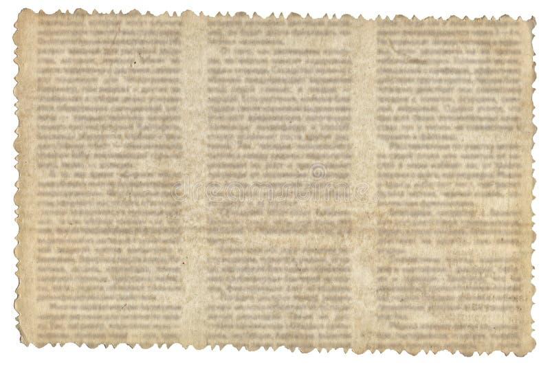 Tappningpapper med gammal tidningstextur royaltyfri fotografi