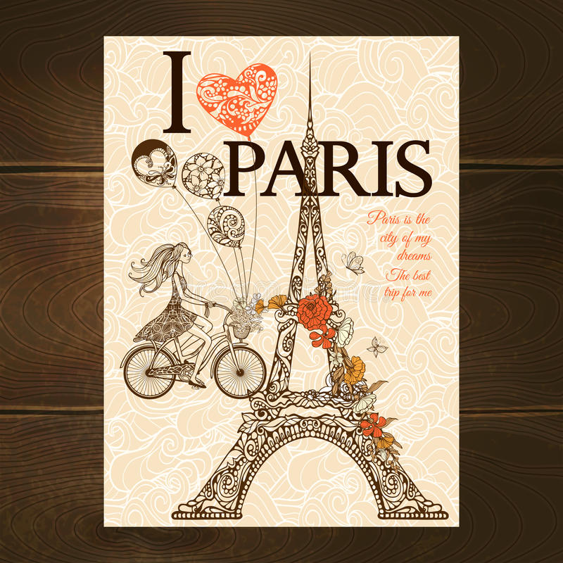 TappningParis affisch royaltyfri illustrationer