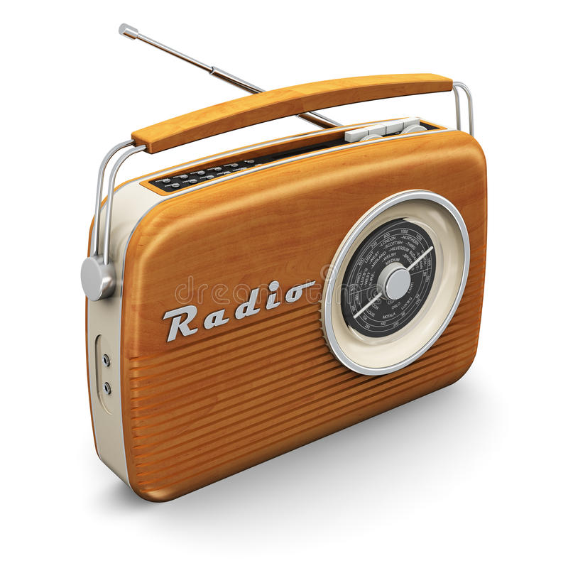 Tappningradio royaltyfri illustrationer
