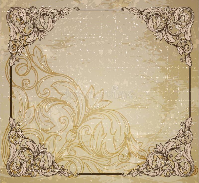 Tappningram royaltyfri illustrationer