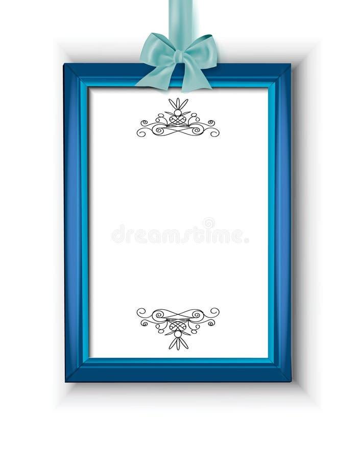 Tappningram som dekoreras med pilbågen stock illustrationer