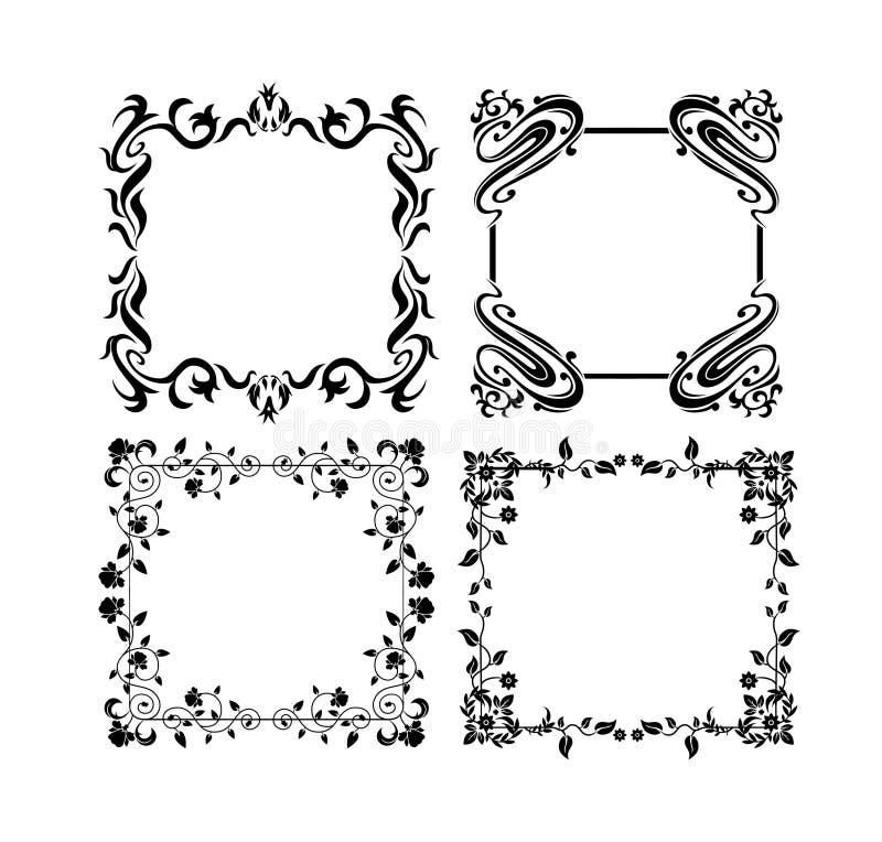 Tappningramar 4 vektor illustrationer