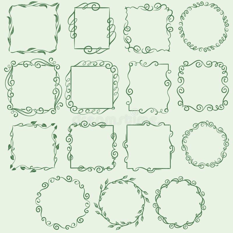 Tappningramar royaltyfri illustrationer