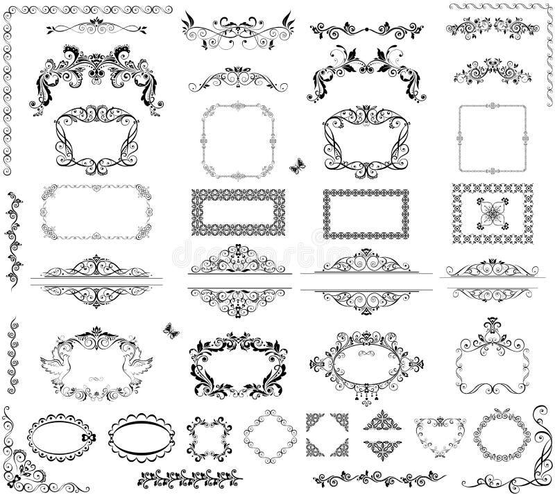 Tappningramar och titelrader royaltyfri illustrationer