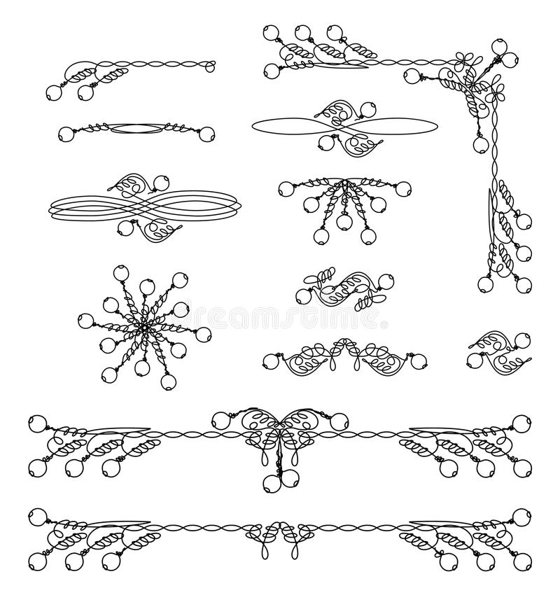 Tappningrambeståndsdelar vektor royaltyfri illustrationer