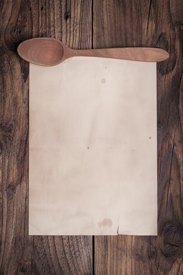 Tappningreceptpapper royaltyfri bild