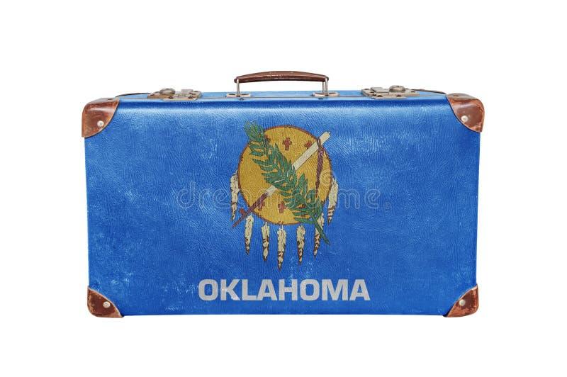 Tappningresväska med den Oklahoma flaggan royaltyfri fotografi