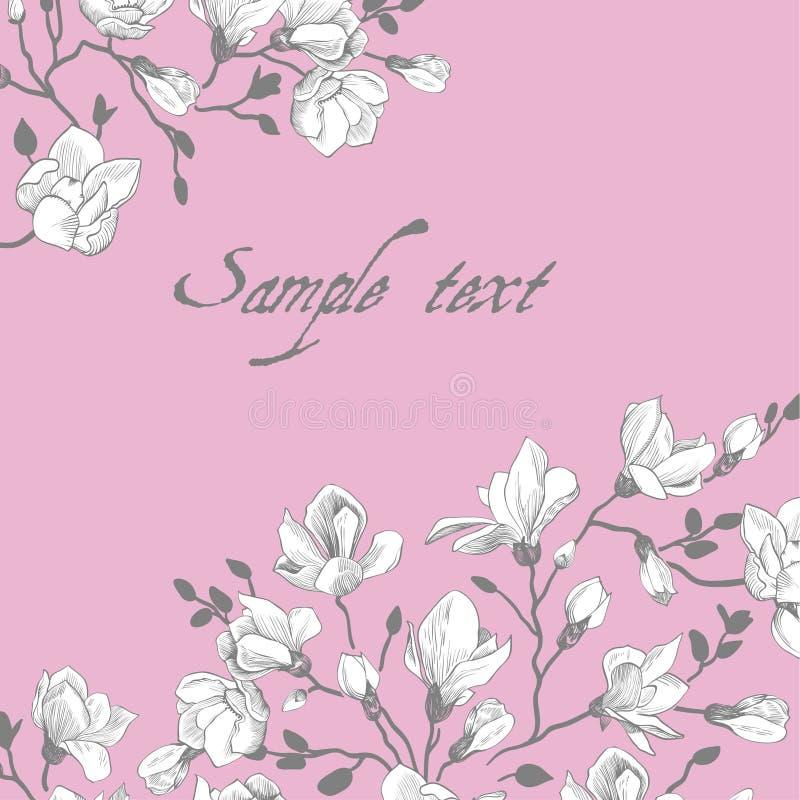 Tappningrosa färgkort royaltyfri illustrationer