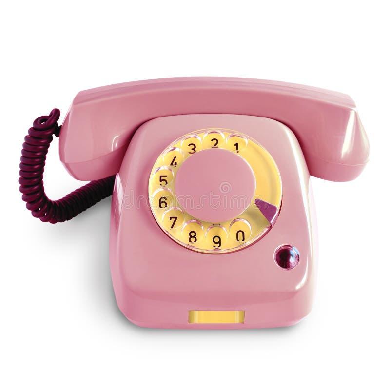 Tappningrosa färgtelefon fotografering för bildbyråer