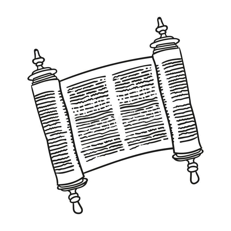 Tappningrulle av antikvitetmellanrumsmanuskriptet över vit Forntida snirkel av lagen konturklotterstil royaltyfri illustrationer