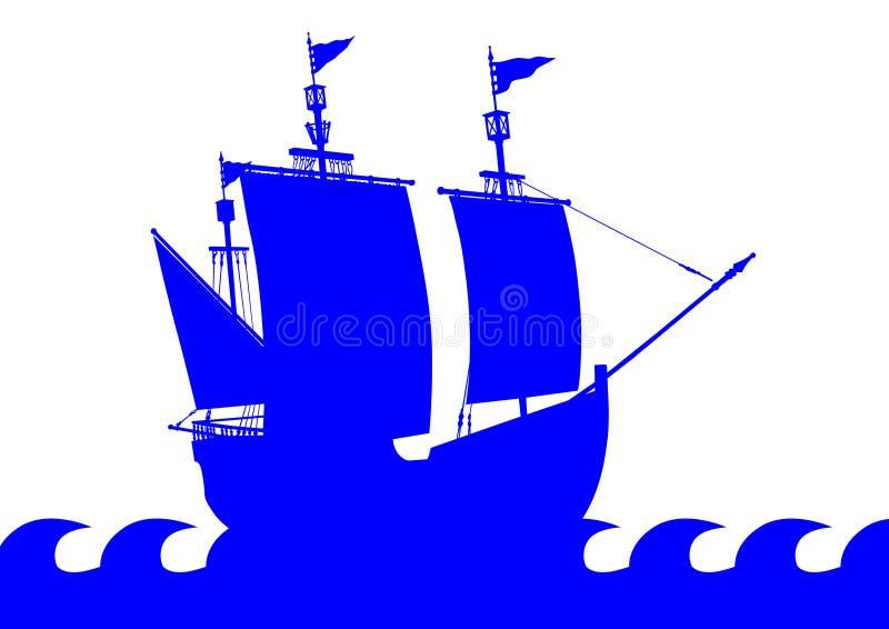 Tappningsegelbåt två stock illustrationer