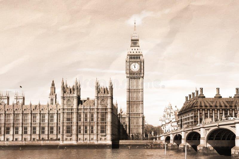 Tappningsikt av London royaltyfri fotografi