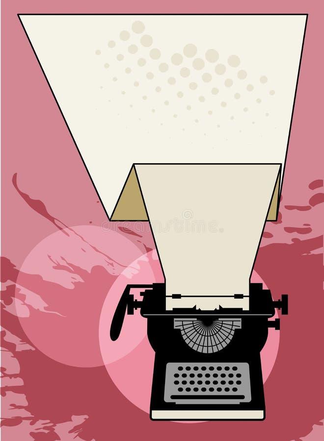 Tappningskrivmaskinsabstrakt begrepp royaltyfri illustrationer