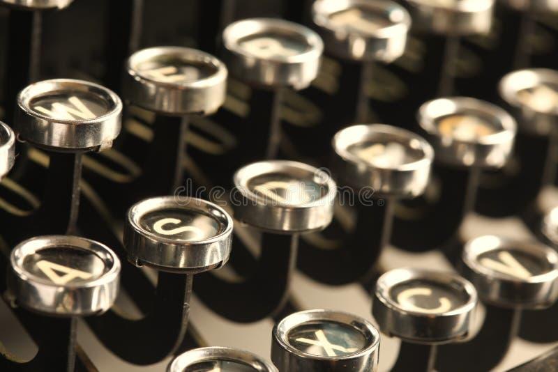 Tappningskrivmaskinstangenter fotografering för bildbyråer