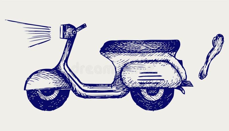 Tappningsparkcykel royaltyfri illustrationer