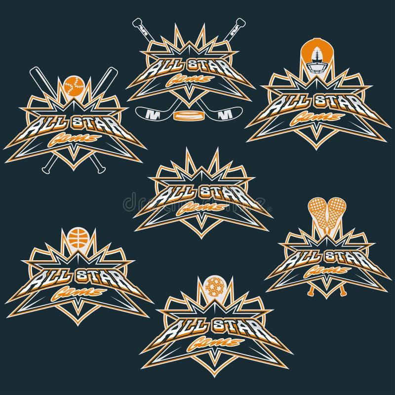 tappningsportar alla stjärnavapen vektor illustrationer