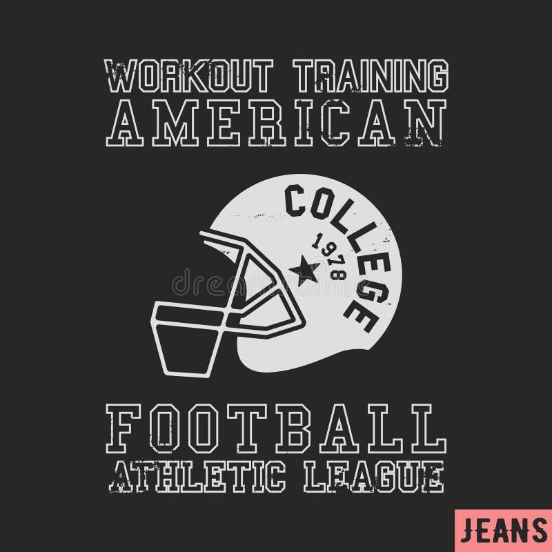 Tappningstämpel för amerikansk fotboll vektor illustrationer