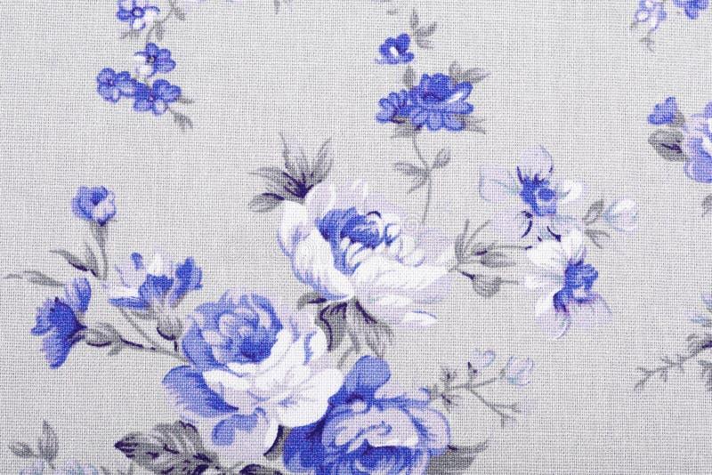 Tappningstil av gobelängen blommar tygmodellen royaltyfria foton