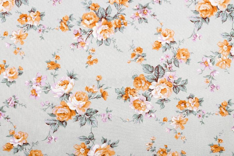 Tappningstil av gobelängen blommar tygmodellen royaltyfria bilder