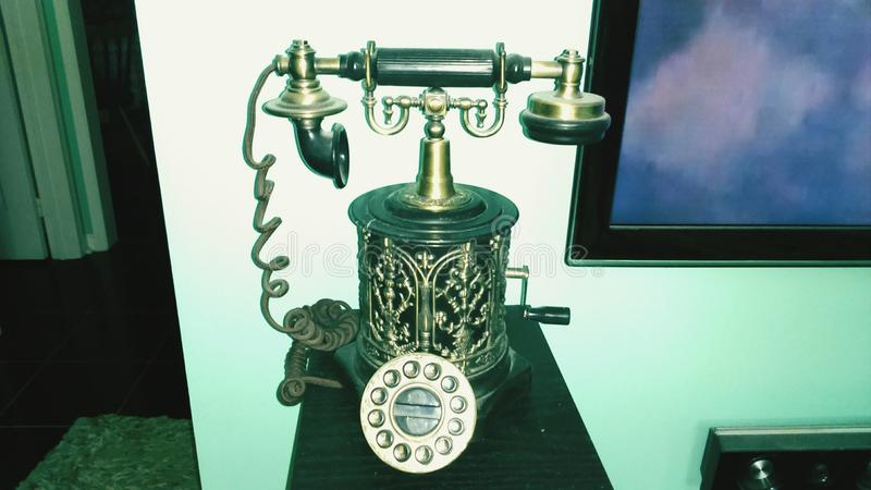 Tappningstiltelefon royaltyfria foton